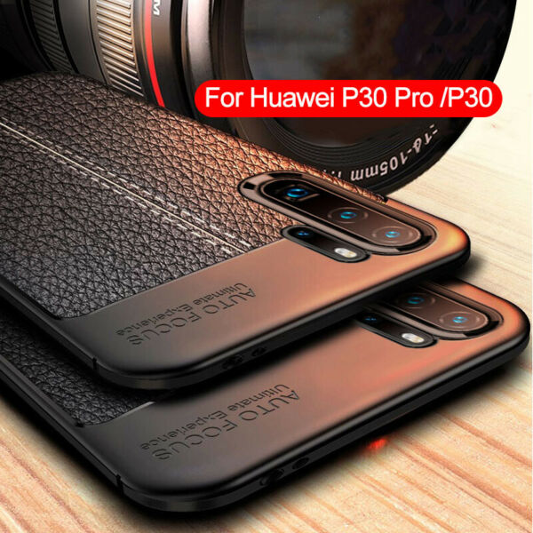 For Huawei P30 Pro P20 Pro Lite Shockproof Rubber TPU Leather Back Case Cover
