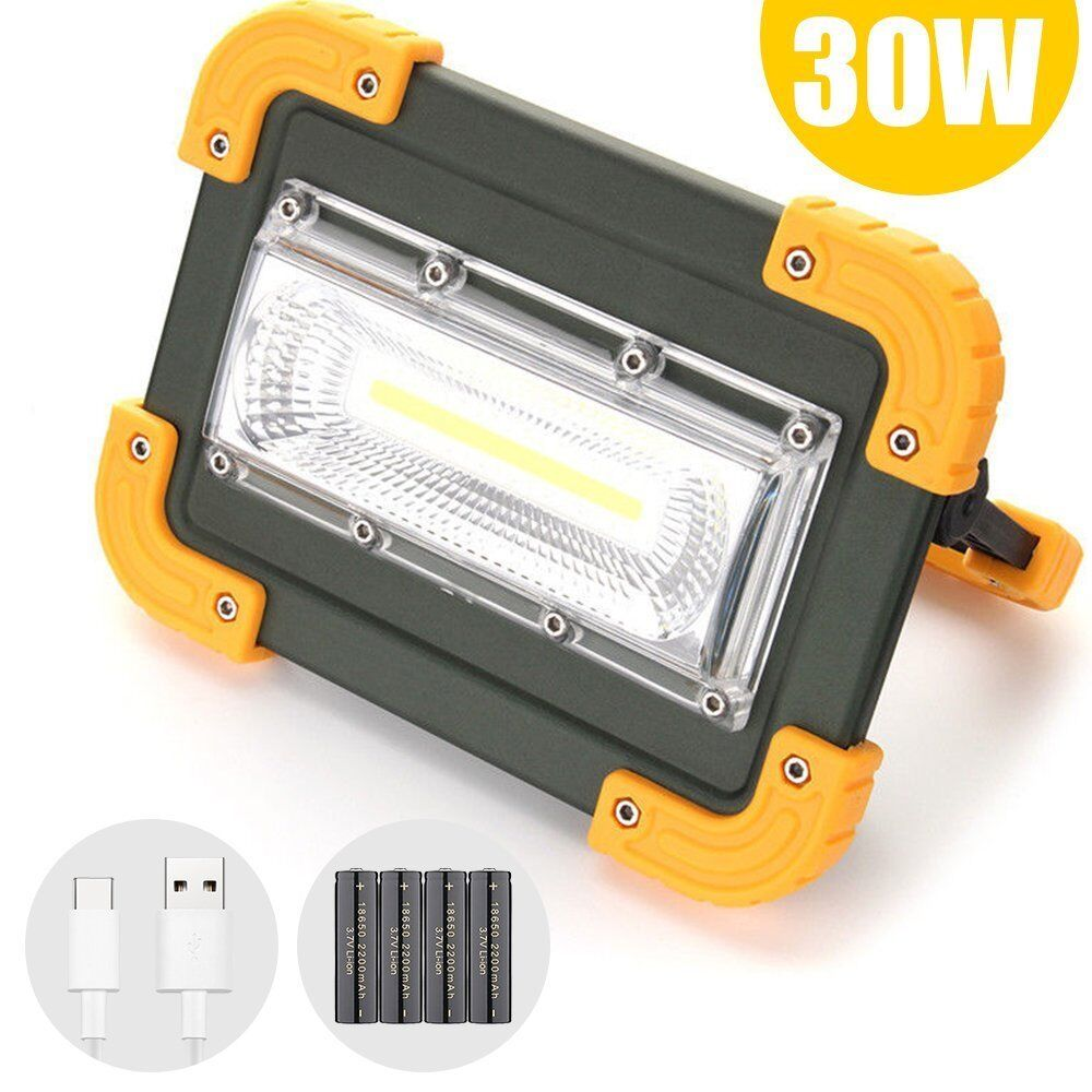 Craftsman 30 Led Rechargeable Stick Light Work Lights: 30W COB LED Work Light Rechargeable Camping Security Lamp