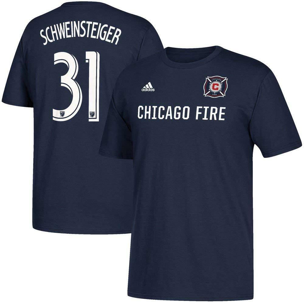 89dade10f1d Details about Adidas Chicago Fire  31 Schweinsteiger Soccer Team Blue T- Shirt S