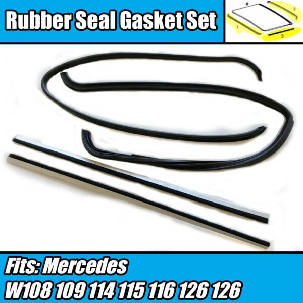 FIT FOR Mercedes Benz W108 W109 Sunroof MOONROOF Seal Gasket Set 4 PCS
