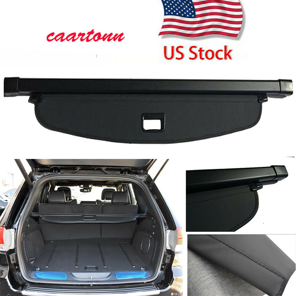 for jeep grand cherokee 2011 2018 trunk cargo luggage security shade cover black 6940847301134. Black Bedroom Furniture Sets. Home Design Ideas