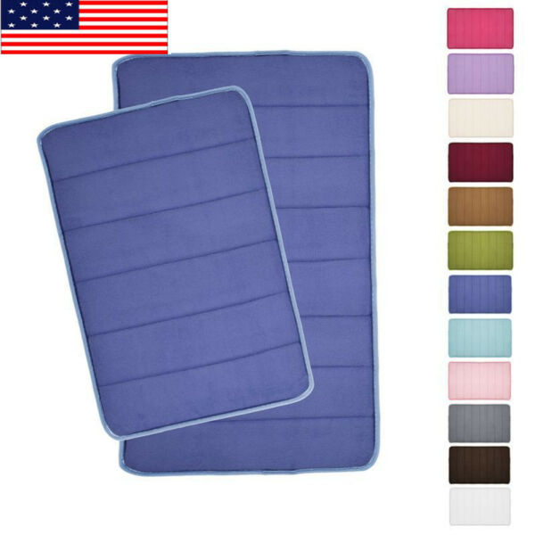 US Absorbent Soft Memory Foam Bath Bathroom Floor Shower Door Mat Rug Decor