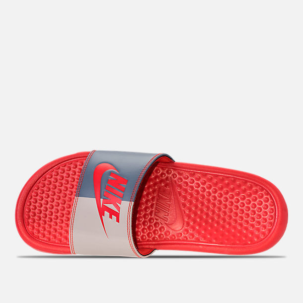 quality design dc892 349bc Details about NIKE WOMEN S BENASSI JDI SLIDES 343881 612 HABANERO RED WOMEN  SIZE