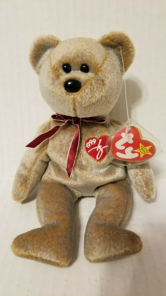3151047d18f Details about TY Beanie Baby 1999 SIGNATURE TEDDY Bear WITH ERRORS HANG TAG- RARE-RETIRED