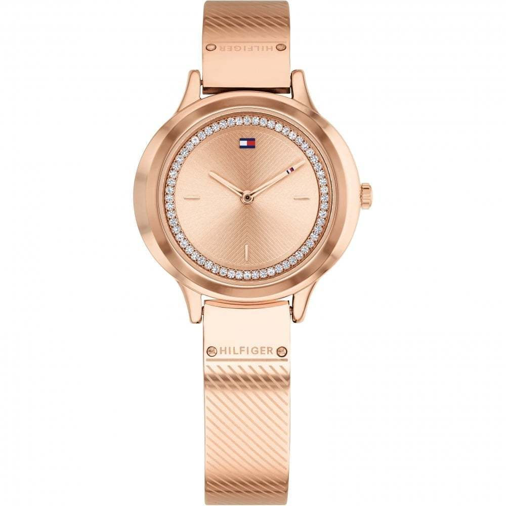 Details about Tommy Hilfiger Ladies Olivia Rose Gold Plated Bangle Watch  1781911 ad50d10ca