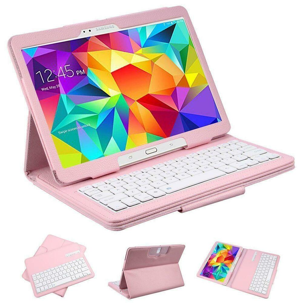 2 In 1 <b>Bluetooth Keyboard PU Leather</b> Cover Stand Case For ...