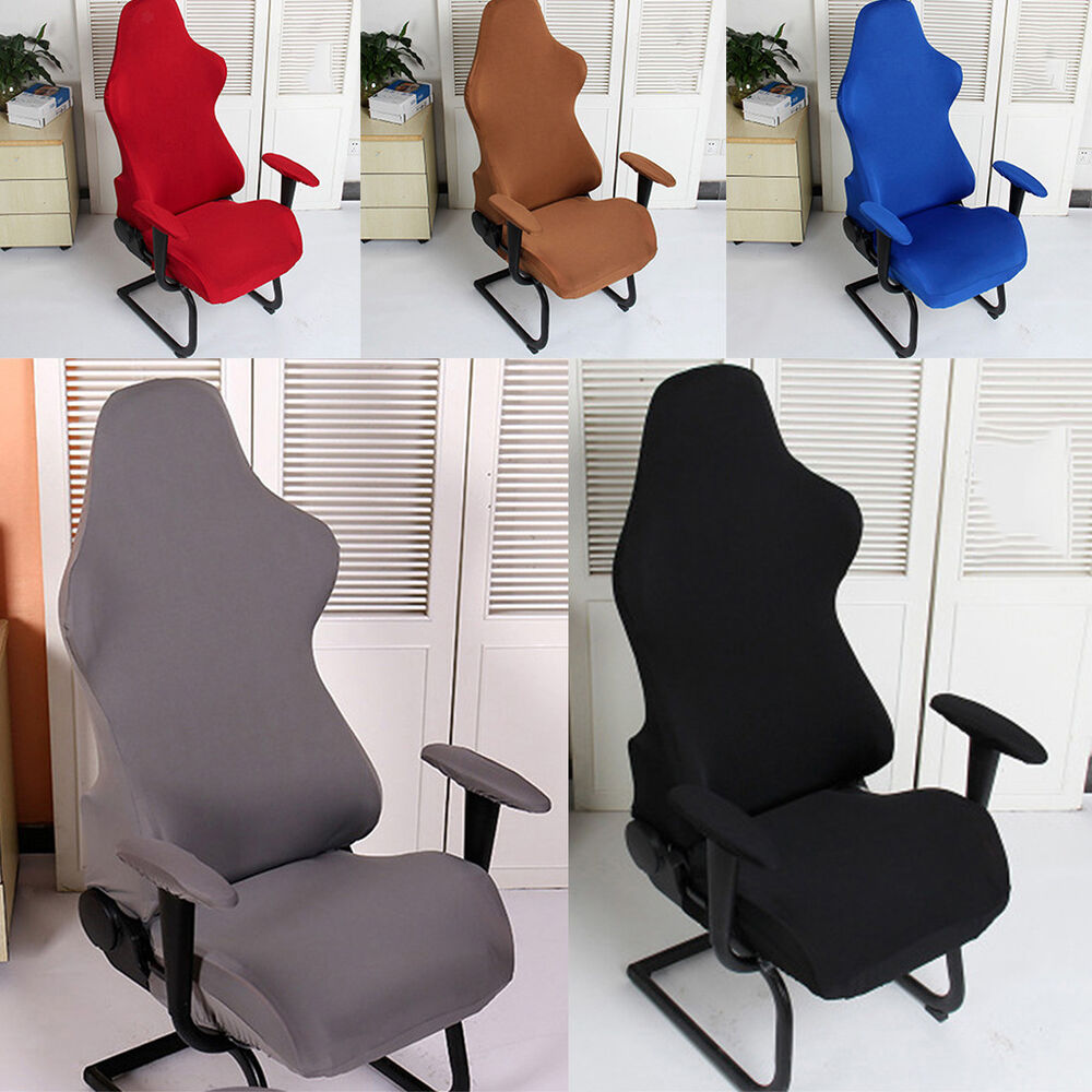 Details About Office Chair Cover Swivel Computer Armchair Seat Protector Slipcover
