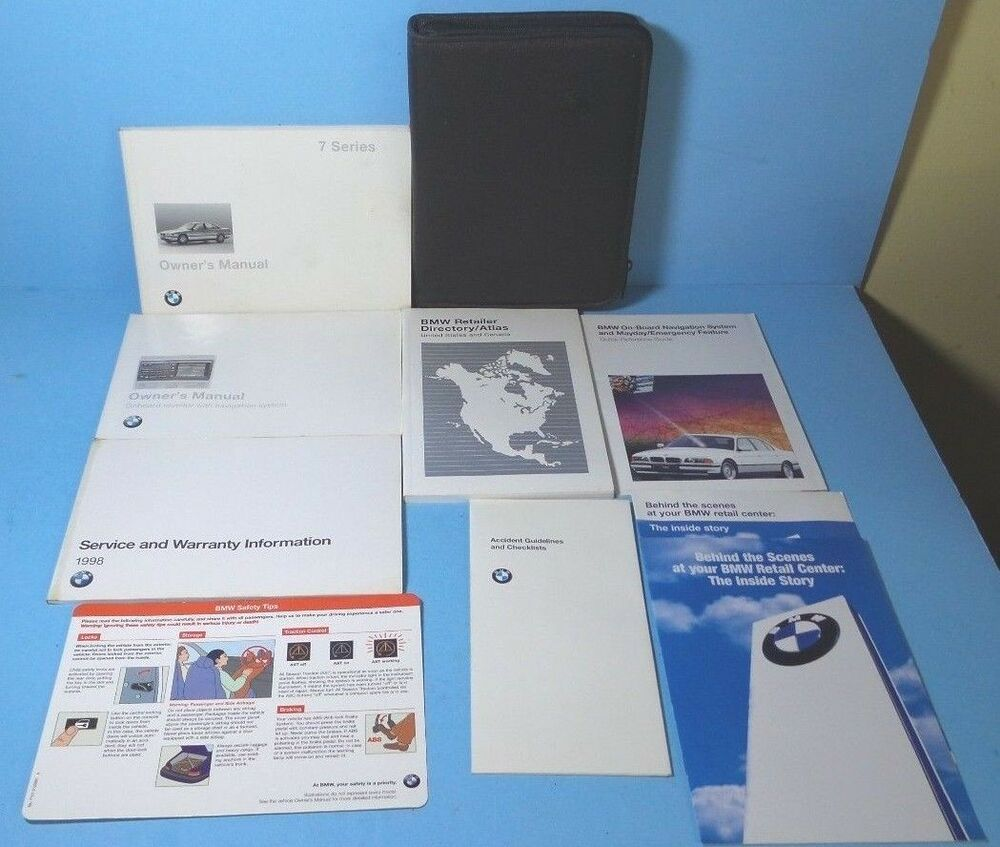 98 1998 BMW 7 Series/740i/740iL/750iL owners manual with Navigation | eBay