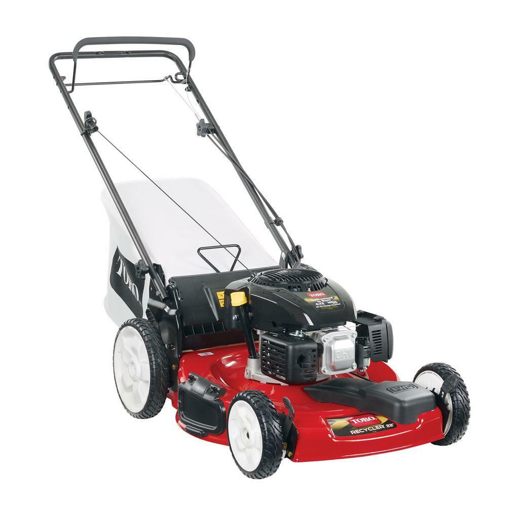 Lawn Mower Gas Self Propelled 22 Inches High Rear Wheel