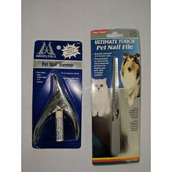 Pet Nail Trimmer & Nail File (2 Types for One Combo)