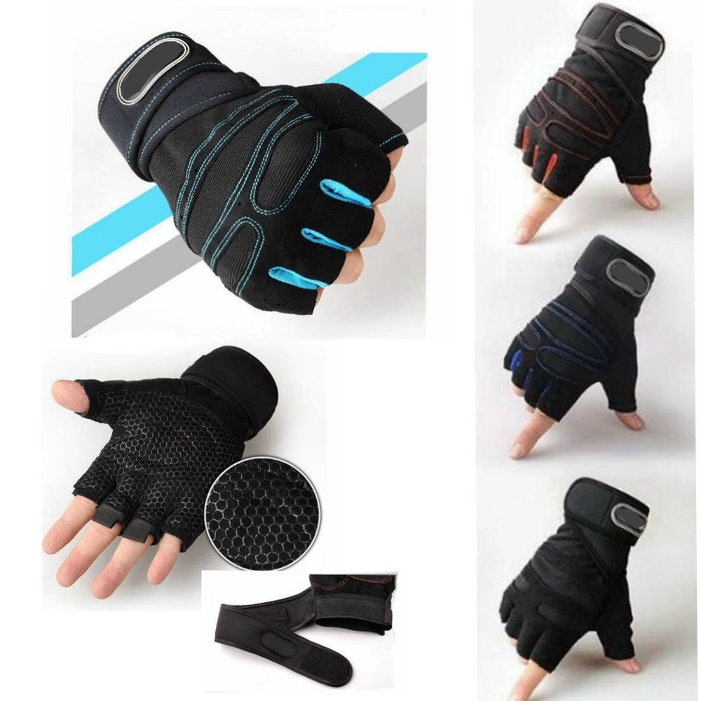 Women Work Out Gloves Weight Lifting Gym Sport Exercise: Men Weight Lifting Gym Gloves Workout Wrist Wrap Sport