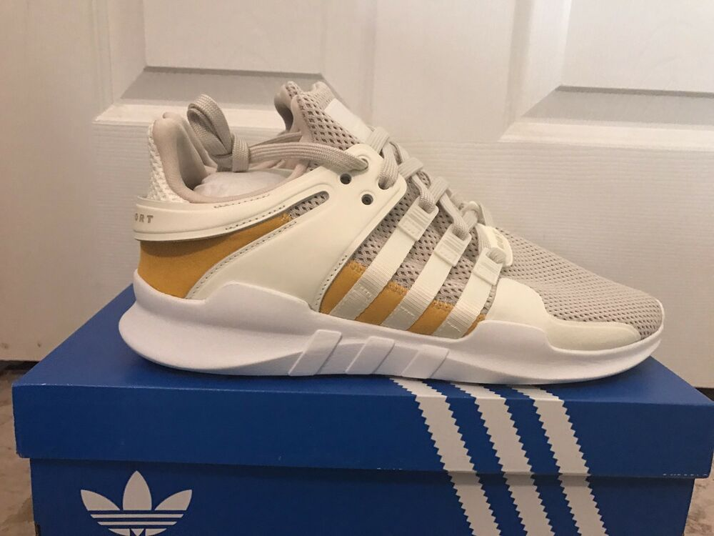 new products 3a37d e7f92 Details about Men Adidas EQT Support ADV Off WhiteTactile Yellow AC7141  9-10.5