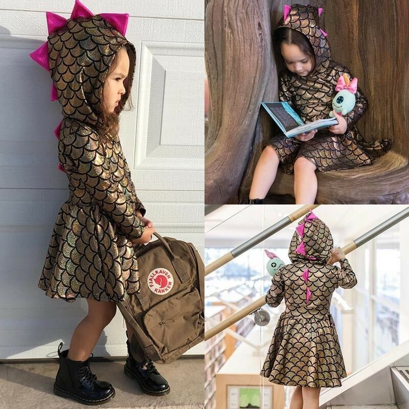 9af5e4b1d Details about USA Stock Newborn Baby Kid Girls Dinosaur Party Princess Dresses  Outfit Costume