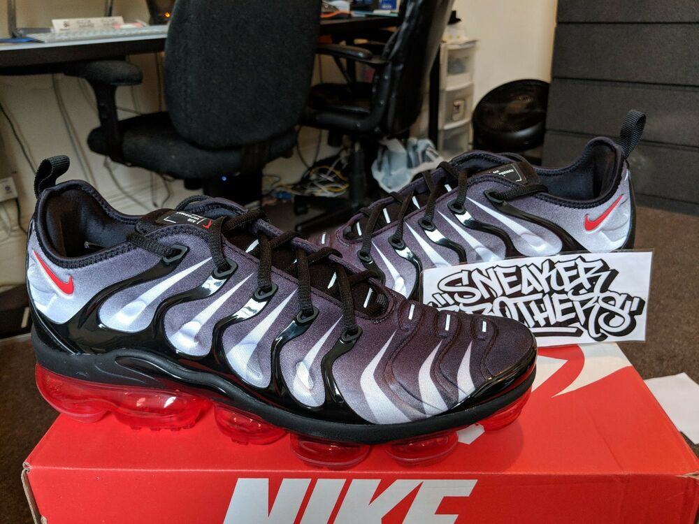 Details about Nike Air Vapormax Plus Shark After Before Bite Black Speed Red  White AQ8632-001 cd3199756