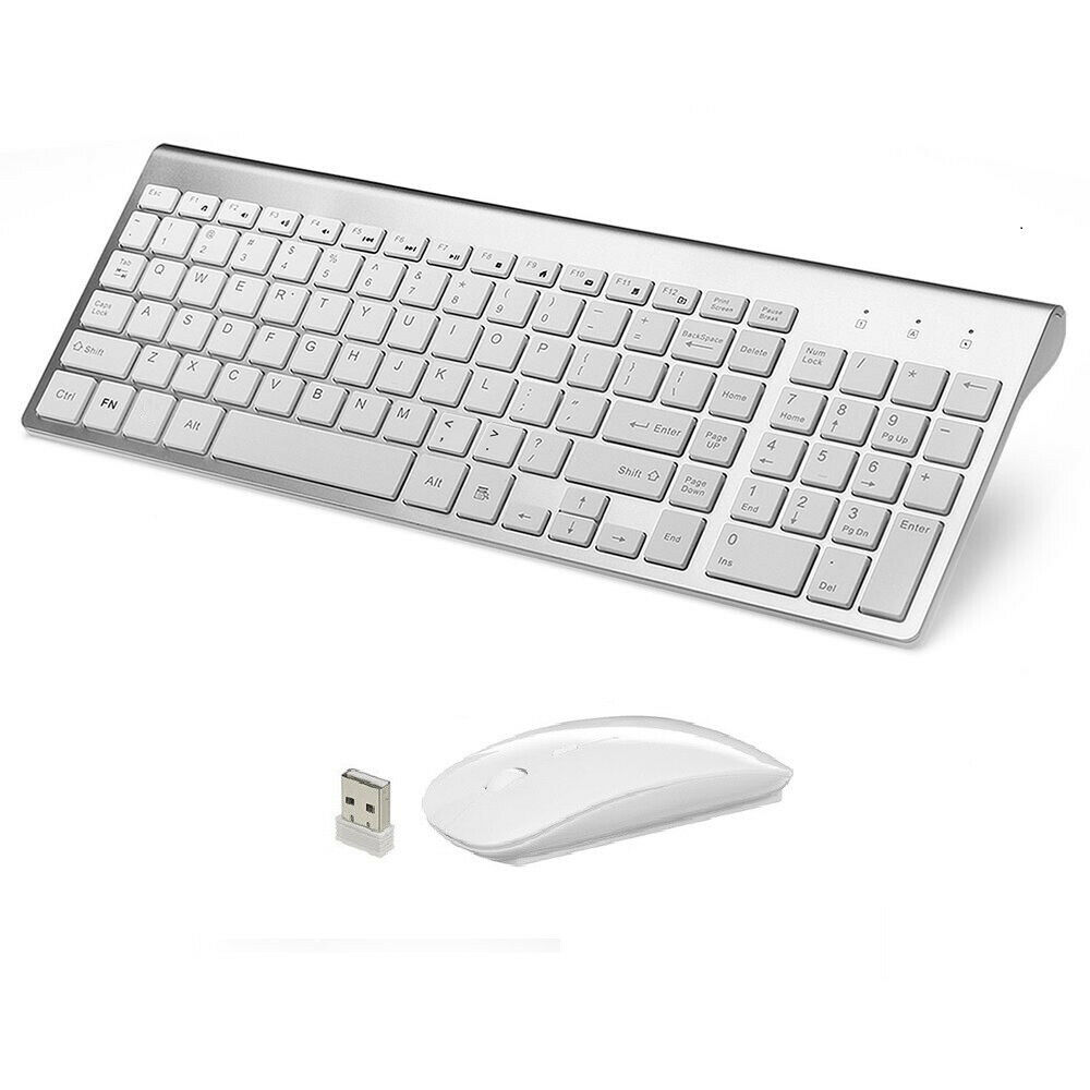 wireless mouse keyboard combo set for acer dell lenovo hp desktop pc fsv sj ebay. Black Bedroom Furniture Sets. Home Design Ideas