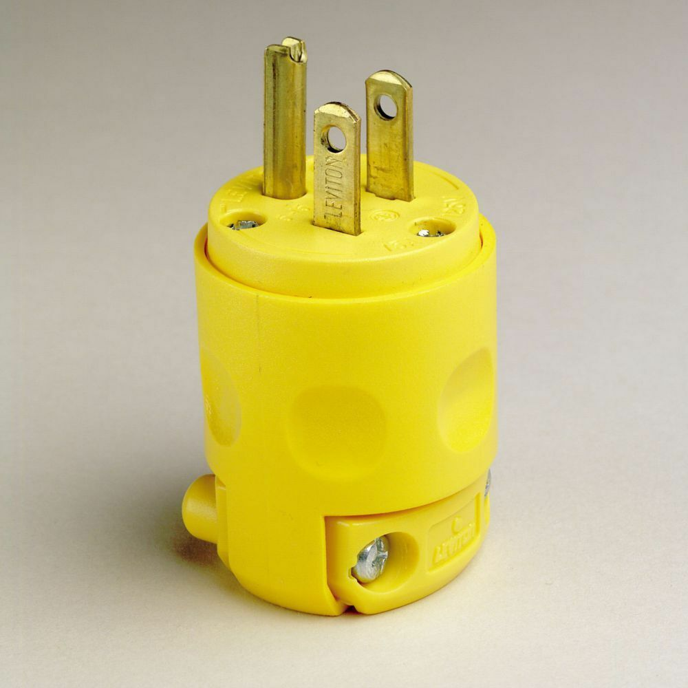 K Leviton 3 Wire Grounding Plug 515pv Yellow Box Of 7 Electrical Receptacle 20 Amps 250v Nema 6 20r Yga022f Ebay 689854940405
