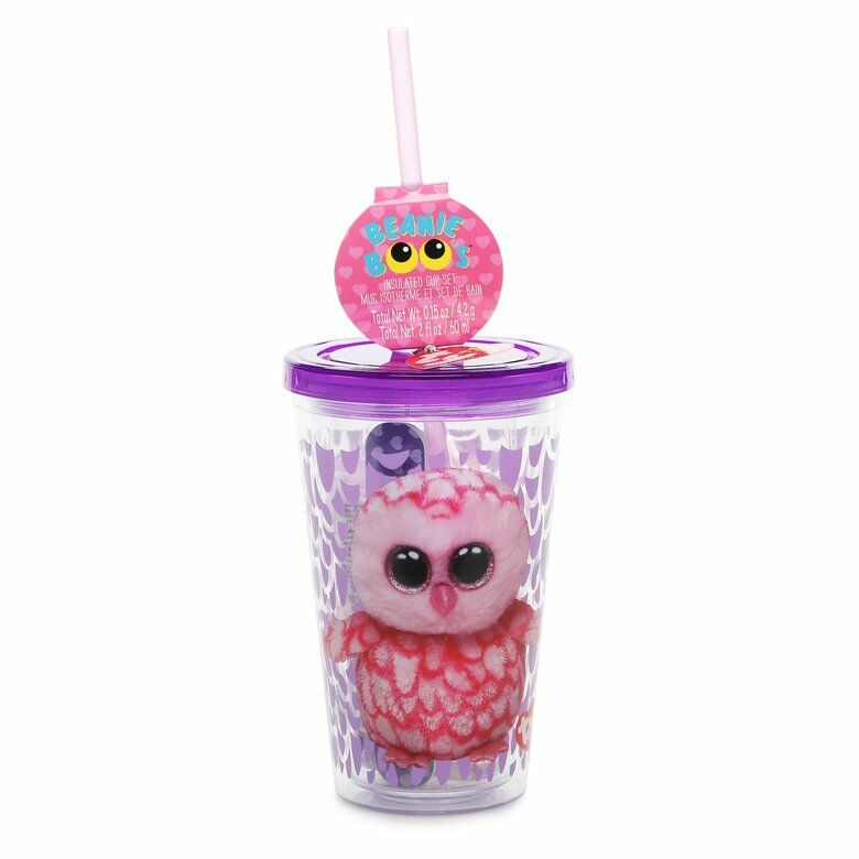 e8deb45b94b Details about Ty Beanie Boo Pinky Insulated Cup 7 Piece Set - FREE SHIPPING
