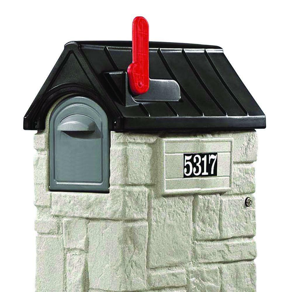 Lockable Mailbox Post Combo Mount Plastic Mail Package