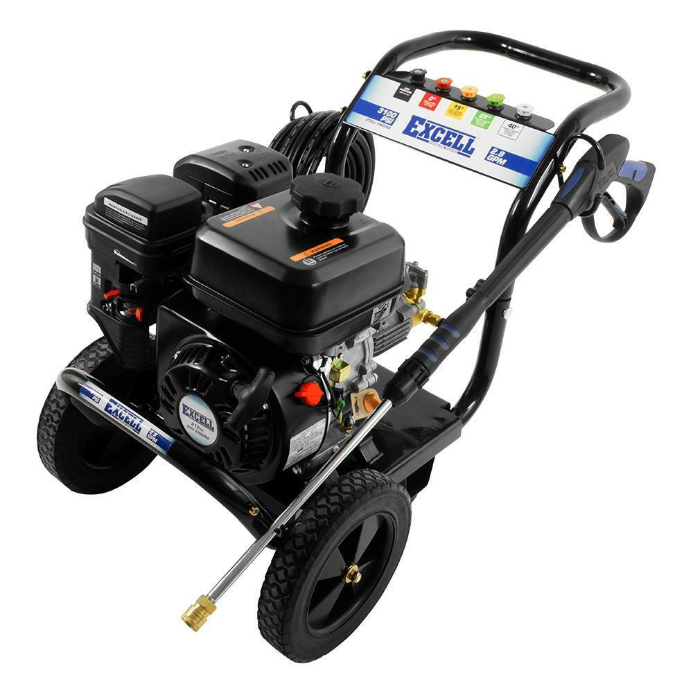 Excell 3100 Psi 2 8 Gpm Cold Water 212cc Gas Powered
