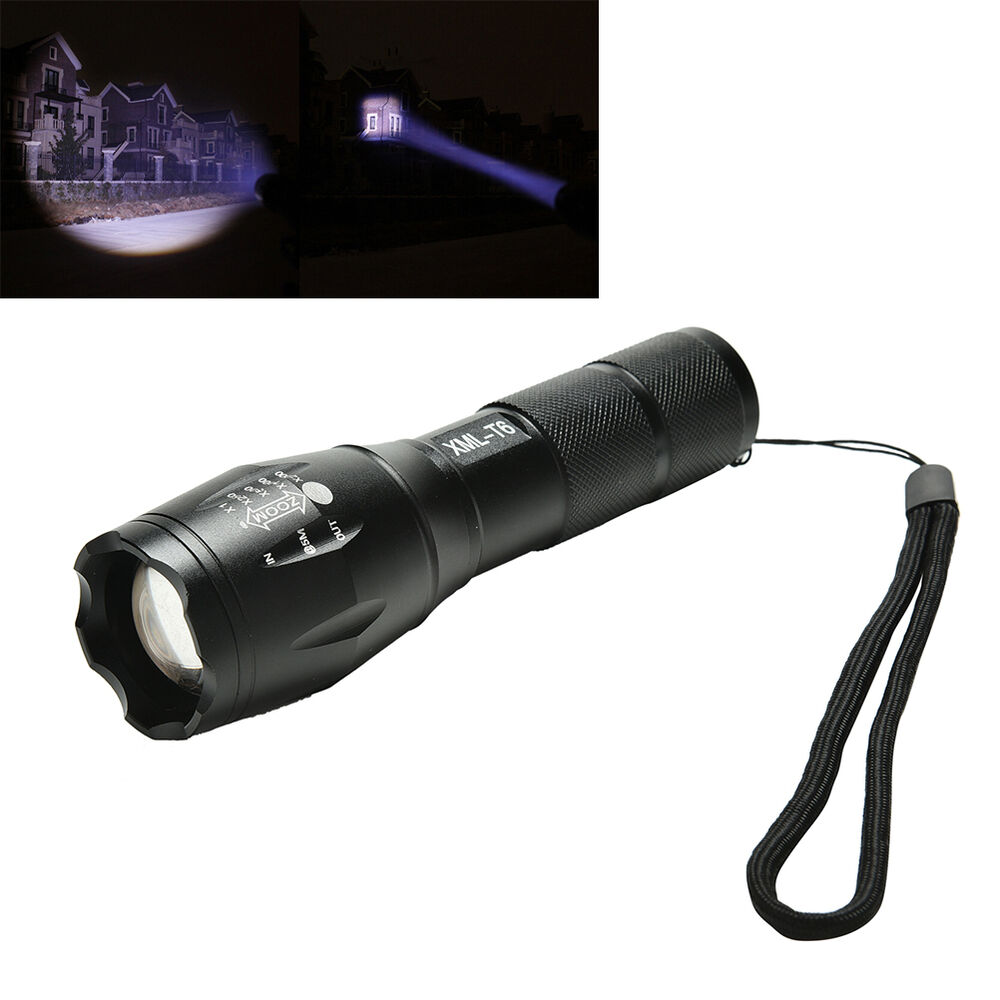 Ultrafire A100 2000 Lumens Zoom-able Cree XML-T6 LED Flashlight Torch 5 Modes YJ