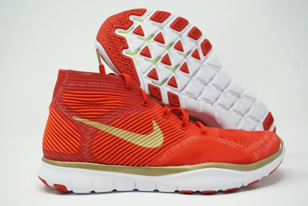 909be04ed8158 Details about Nike Free Train Instinct HUSTLE Kevin Hart Mens Shoes Size 6  Red Gold 848416 876