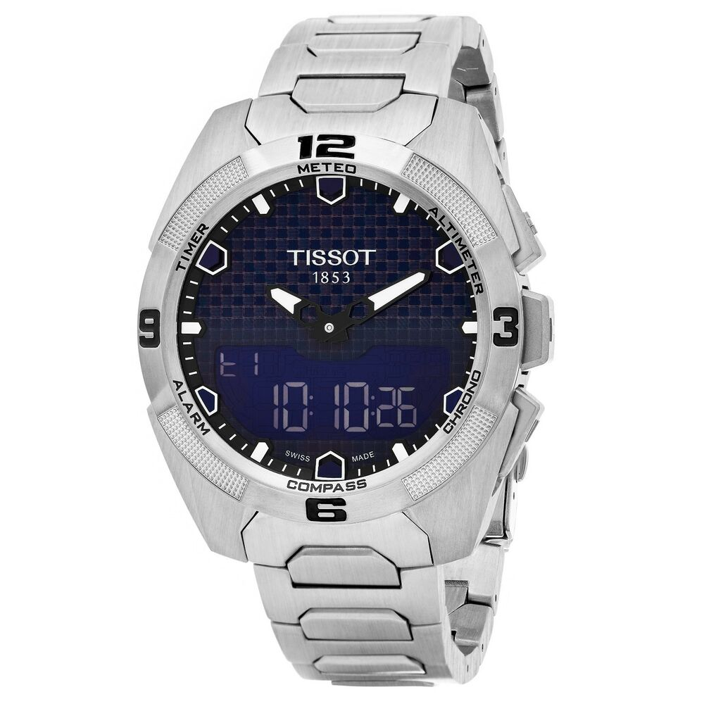 7749bc5d650 Details about Tissot Men s T Touch Expert Blue Dial Titanium Swiss Quartz  Watch T0914204404100
