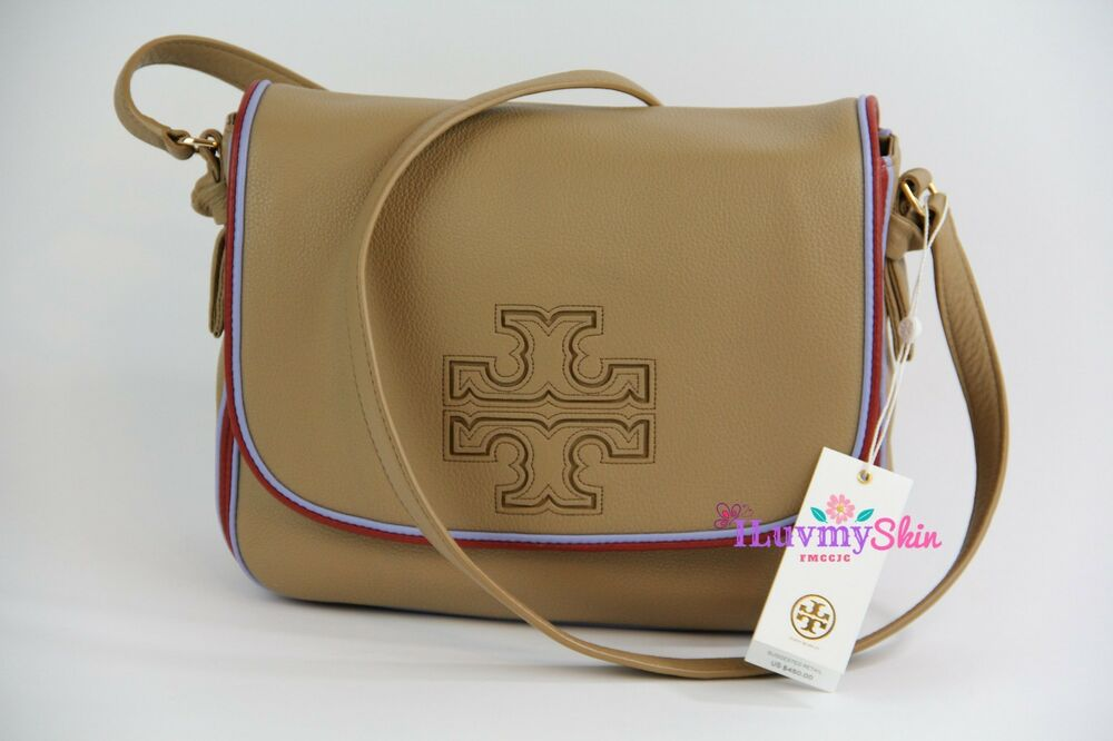 b5ffff4aff7f Authentic Tory Burch Harper Stripe Messenger Bag (New with Tag)