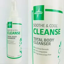 Medline Soothe & Cool Cleanse No-Rinse Total Body Cleanser, 8 Ounce Spray Bottle