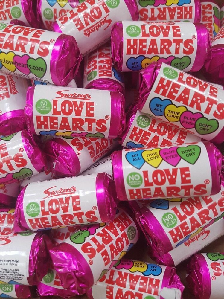 Mini Love Heart Rolls Party Bag Fillers Retro Hearts Wedding Favours