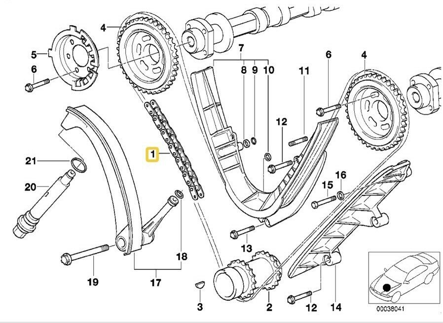 Bmw M62 Engine E38 E39 E53 540i 740i X5 Timing Chainrailsseals