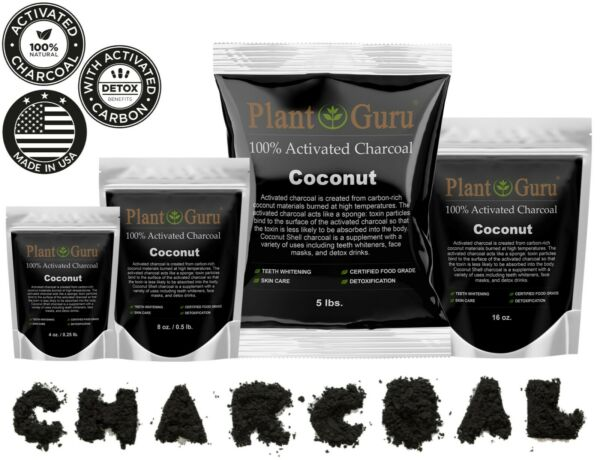 Activated Charcoal Powder Organic 100% Natural Food Grade Bulk Teeth Whitening