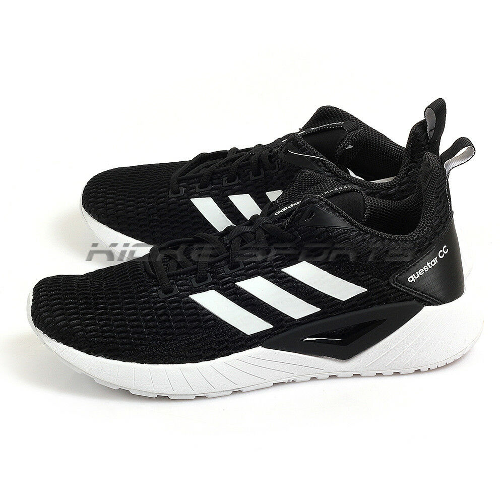 ea1cfcd27796 Details about Adidas Questar CC Black White Black Sportstyle Running Shoes  Sneakers DB1159