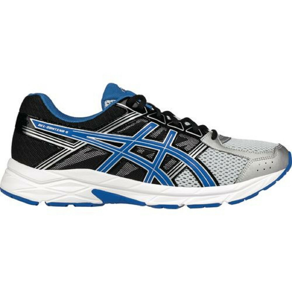 cdb9ab980872c Details about ASICS Men s GEL-CONTEND 4 Running Shoes  SILVER BLUE BLACK WHITE Sz. 12 M NIB