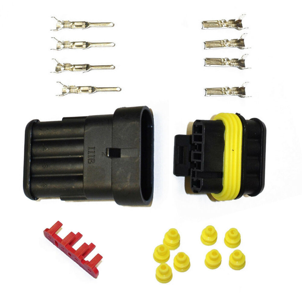 Car Connector Amp Tyco Superseal 15 Kit 4 Pin Set Plug Tuning Automotive Wiring Harness Connectoramp Terminal Motorbike Fcc 7437155091042 Ebay