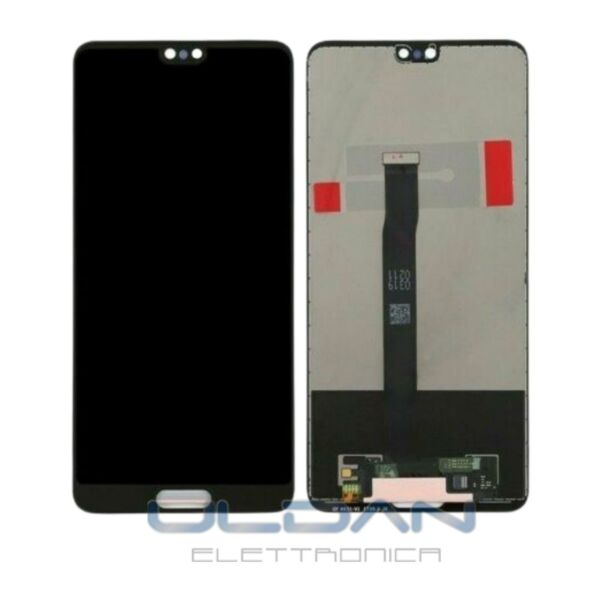 DISPLAY LCD HUAWEI P20 EML-L09 L09C L29 AL00 per TOUCH SCREEN SCHERMO VETRO NERO