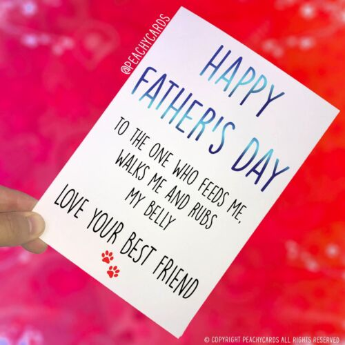 Funny Father's Day Card From The Dog Card For Dog Dad, Funny Dad Card Gift PC392