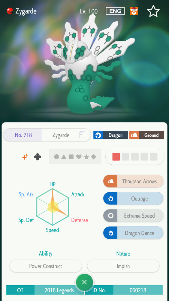 6IV Shiny Zygarde Event (10% And 50%) Bundle Pokemon Sun