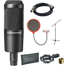 Audio-Technica Cardioid Condenser Microphone - AT2035 w/ Stand Bundle