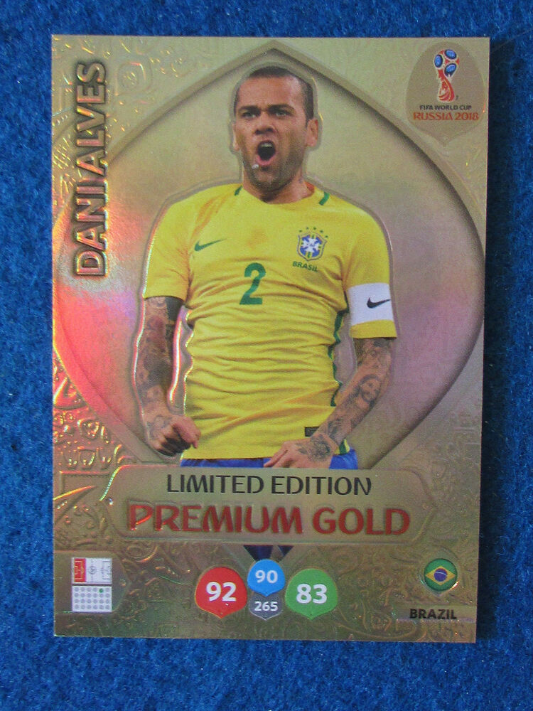 ce63df0e5 Panini Adrenalyn XL World Cup Russia 2018 Dani Alves Brazil Premium Gold