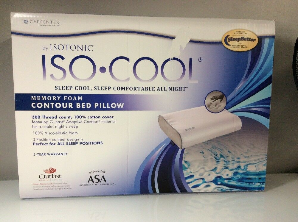 Isotonic Sleepbetter Iso Cool Memory Foam Pillow Contour