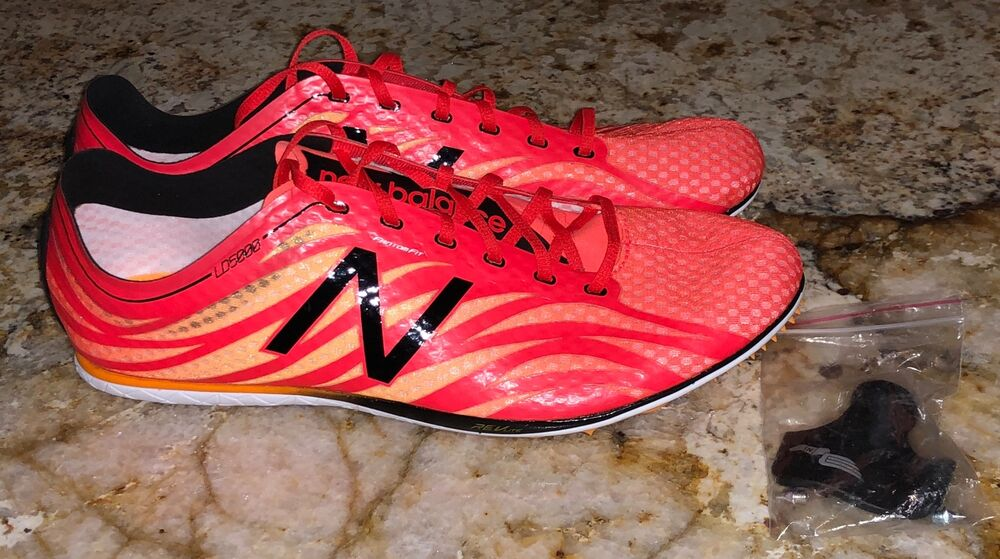 ba34518ddf9e4 Details about NEW BALANCE LD5000 v3 Distance Flame Red Black Track Spikes  Shoes NEW Mens 12