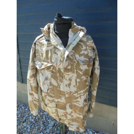 img-British Military Army Woodland DESERT Camouflage Combat Windproof Smock Jacket
