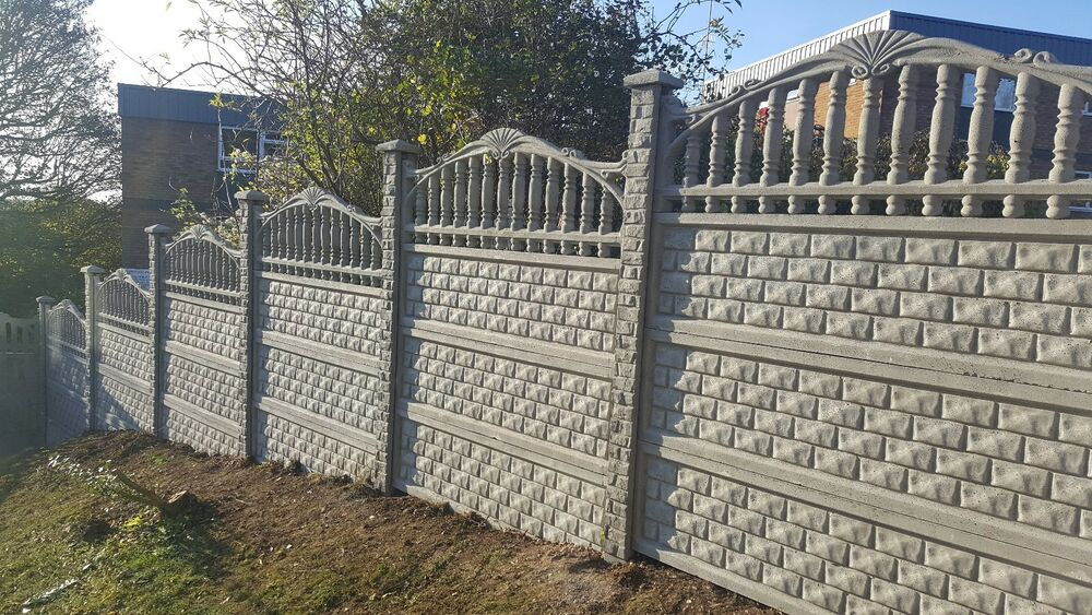 fence fencing panels gravel boards heavy duty concrete. Black Bedroom Furniture Sets. Home Design Ideas