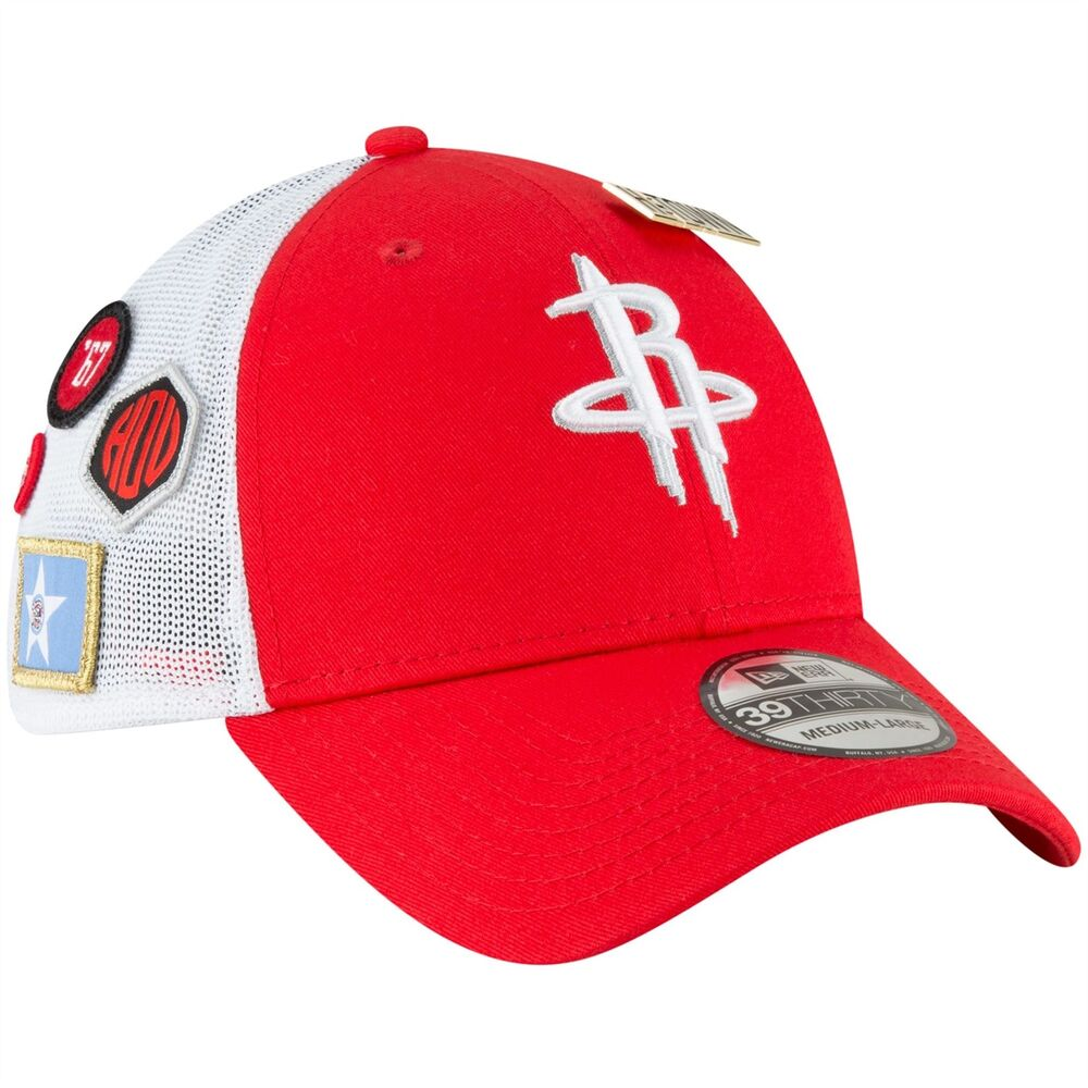 Details about Houston Rockets 2018 Draft Hat New Era NBA Fitted Men s  39THIRTY Hat Red e1752a802