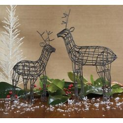 Wire Reindeer Set of 2 by Park Designs - Christmas - Home Decor - Deer