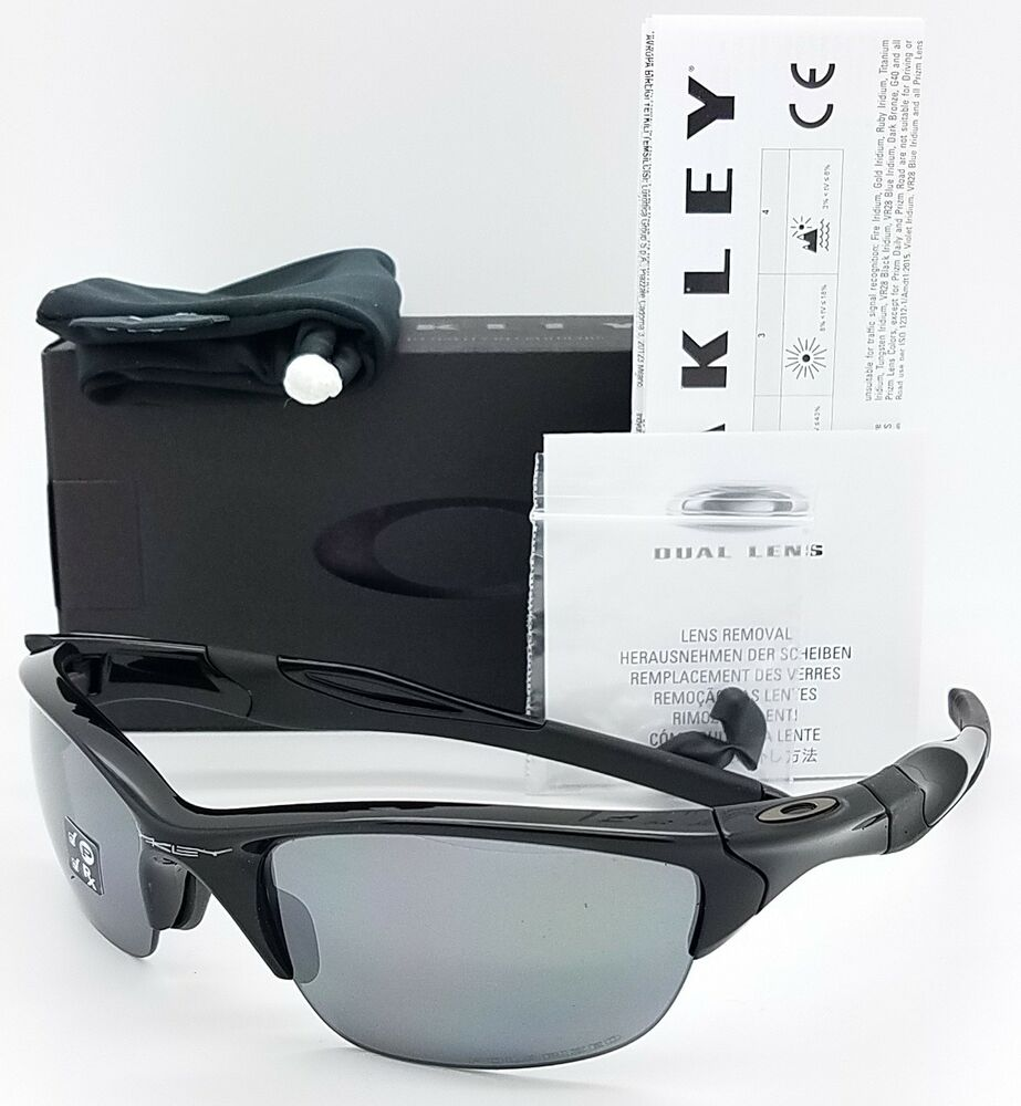 de8dc5118a Details about NEW Oakley Half Jacket 2.0 sunglasses Black Iridium Polarized  9144-04 AUTHENTIC