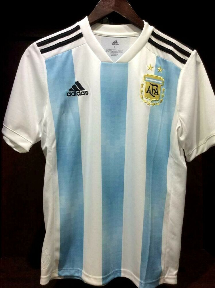 3edbb50bc Details about Adidas YOUTH Argentina Home Soccer Jersey World Cup 2018 -  BQ9288