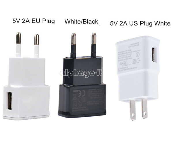 White/Black US/EU 5V 2A Plug 1 Port USB Wall Charger Fast Power Adapter Travel