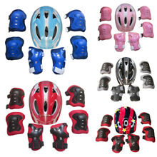 Boys Girls Kids Safety Helmet & Knee & Elbow Pad Set For Cycling Skate Bike MTB