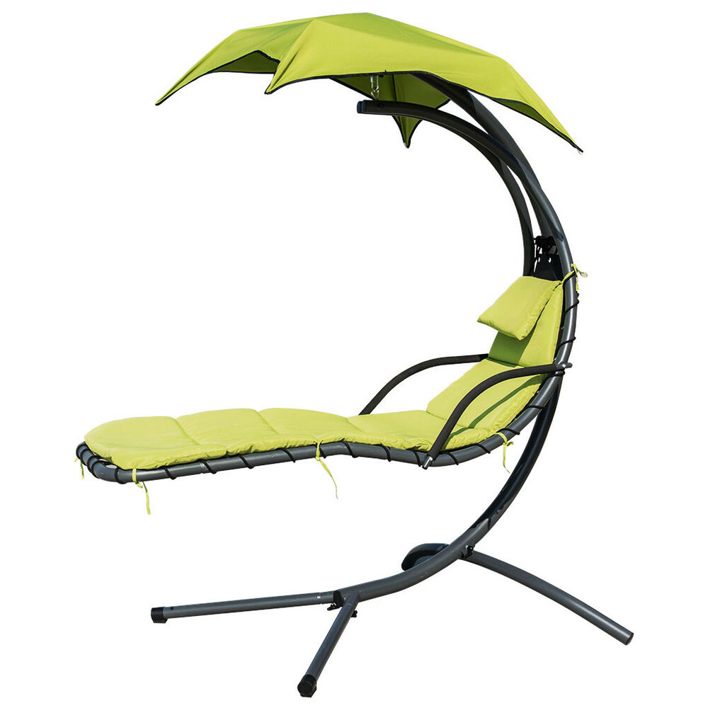 Hanging lounge chair Hammaka Hammocks Details About Hanging Chaise Lounge Chair Beach Garden Swing Hammock Chair W Arc Stand Canopy Briers Furniture Hanging Chaise Lounge Chair Beach Garden Swing Hammock Chair W Arc